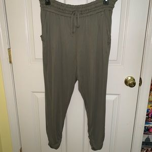 Olive green dressy joggers